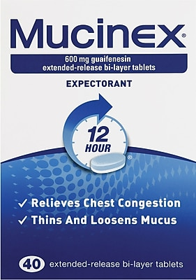 Mucinex Tablets, 40 Tablets/Box