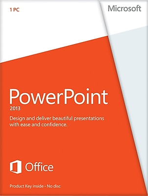 Microsoft PowerPoint 2013 for Windows (1-User) [Product Key Card]