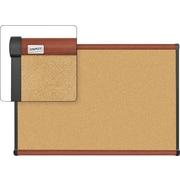 Staples Cork Bulletin Board, Cherry Finish Frame, 3' x 2'