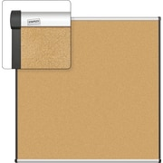 Staples Cork Bulletin Board, Aluminum Frame, 4' x 4'