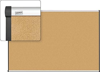 Staples Cork Bulletin Board, Aluminum Frame, 6' x 4'