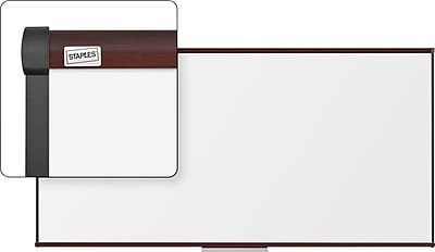Staples 8' x 4' Magnetic Porcelain Coated Steel Dry-Erase Whiteboard with Tray (23678-CC)
