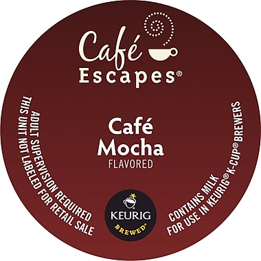 Cafe Escapes® Cafe Mocha K-Cup® Pods, 96/CT