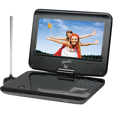 Supersonic® SC-259 Portable DVD/CD/MP3 Player With TV Tuner, USB and SD Card Slot, 9