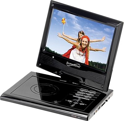 Supersonic® SC-179DVD Portable DVD Player With Swivel Display, 9