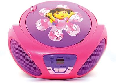 Sakar 56067 Dora The Explorer CD Boombox, Purple/Pink/Red