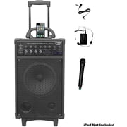 Pyle® PWMA890UI Dual Channel Wireless Rechargeable Portable PA System, 500 W (93576914M)