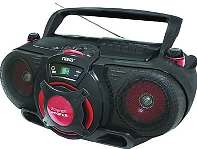 Naxa® NPB-259 Portable MP3/CD AM/FM Stereo Radio Cassette Player/Recorder With Subwoofer