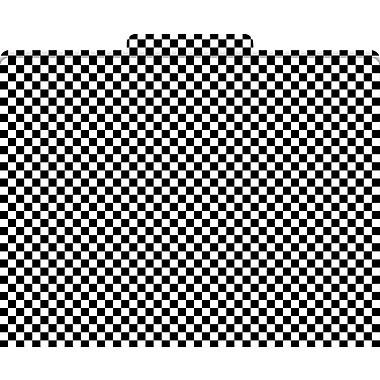 Black Check Decorative File Folders, Letter Size, 3 Tab, 12 Pack