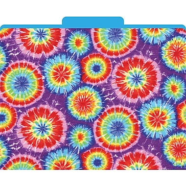 Barker Creek Tie-Dye Decorative File Folders, Letter, 3 Tab, 12/pack (LL1310)