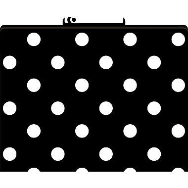 Barker Creek Black and White Dot Decorative File Folders, Letter, 3 Tab, 12/pack (LL1313)