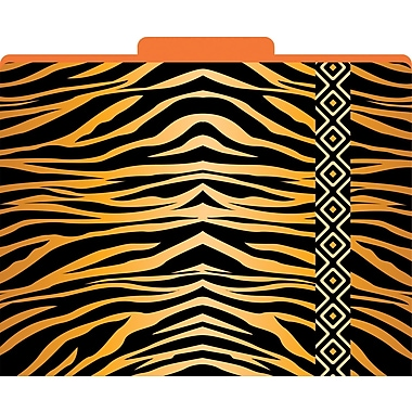 Barker Creek Tiger Decorative File Folders, Letter, 3 Tab, 12/pack (LL1321)