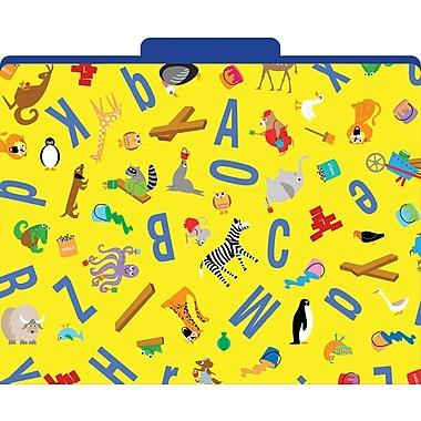 Barker Creek ABC Animals Decorative File Folders, Letter, 3 Tab, 12/pack (LL1322)