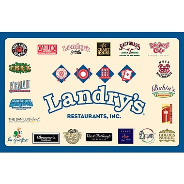 Landry's Brand Gift Card $100 (Email Delivery)