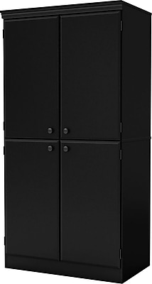 South Shore® Morgan Storage Cabinet, Black