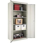 "Alera, Steel Storage Cabinet, Assembled, 78Hx36Wx24D"", Light Gray"