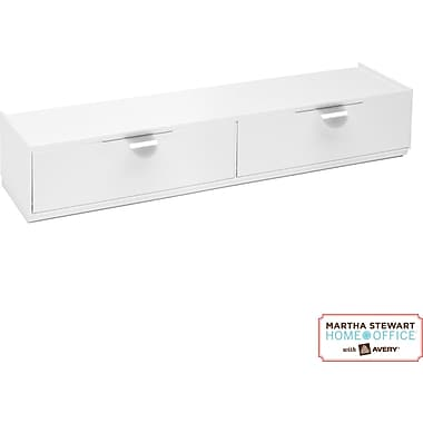 Martha Stewart Home Office™ with Avery® Wall Manager Drawer Set, Chalk White