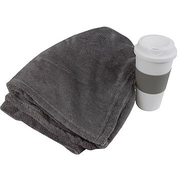 Fleece Blanket and Coffee Cup