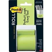 """Post-it® Full Adhesive Roll, 2"""" x 400"""", Green"""