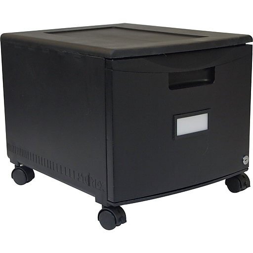 sports shoes 5313f 338ff Storex One-Drawer Mobile File Cabinet, Locking, Legal/Letter Size, Black  (61264B01C)