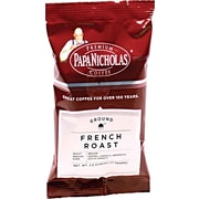 Papa Nicholas® French Roast Ground Coffee, Regular, 2.5 oz., 18 Packets