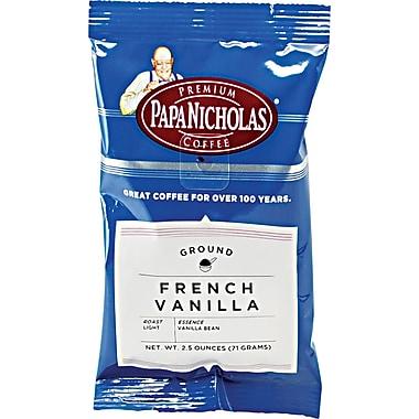 Papa Nicholas® French Vanilla Ground Coffee, Regular, 2.5 oz., 18 Packets