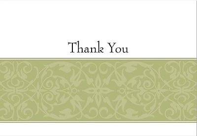 Great Papers Sage Swirl Thank You Cards 50 Pack Staples