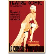 "Trademark Global ""Teatre Comic de Barcelona"" Gallery Wrapped Canvas Art, 18"" x 24"""