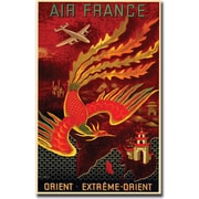 "Trademark Global ""Air France Orient Extreme"" Gallery Wrapped Canvas Art, 35"" x 47"""