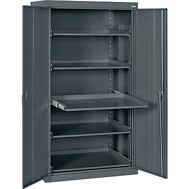 Sandusky Pull Out Tray Shelves Storage, Charcoal