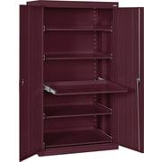 Sandusky Pull Out Tray Shelves Storage, Burgundy