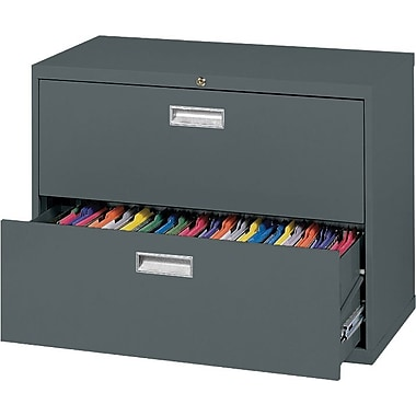 Sandusky 600 Series 2 Drawer Lateral File, Charcoal,Letter/Legal, 36''W (LF6A362-02)