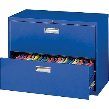 Sandusky 600 Series 2 Drawer Lateral File, Blue,Letter/Legal, 36''W (LF6A362-06)