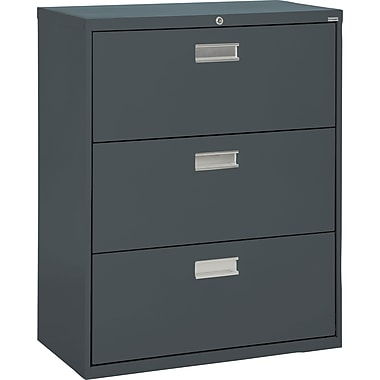Sandusky 600 Series 3 Drawer Lateral File, Charcoal,Letter/Legal, 36''W (LF6A363-02)