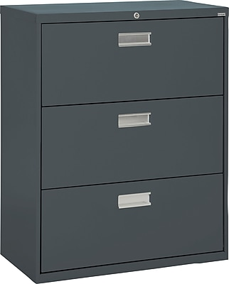 Sandusky 3-Drawer Lateral File Cabinet, Charcoal, 36