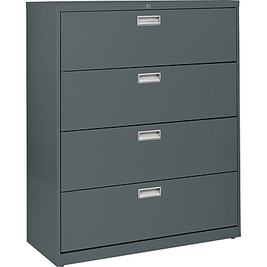 Sandusky 600 Series 4 Drawer Lateral File, Charcoal,Letter/Legal, 36''W (LF6A364-02)