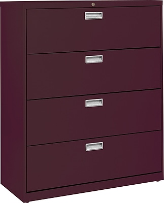 Sandusky 600 Series 4 Drawer Lateral File, Red,Letter/Legal, 36''W (LF6A364-03)