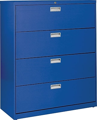 Sandusky 4-Drawer Lateral File Cabinet, Blue, 36