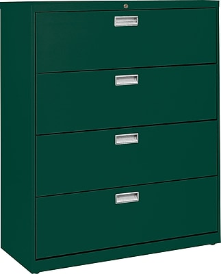 Sandusky 4-Drawer Lateral File Cabinet, Forest Green, 36