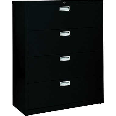 Sandusky 600 Series 4 Drawer Lateral File, Black,Letter/Legal, 36''W (LF6A364-09)