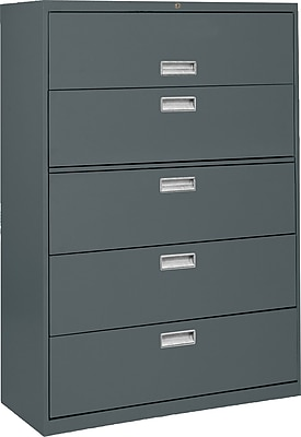 Sandusky 600 Series 5 Drawer Lateral File, Charcoal,Letter/Legal, 36''W (LF6A365-02)