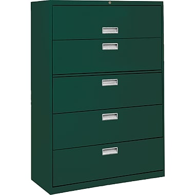 Sandusky 600 Series 5 Drawer Lateral File, Green,Letter/Legal, 66.37''W (LF6A365-08)