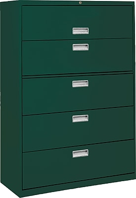 Sandusky 5-Drawer Lateral File Cabinet, Forest Green, 36