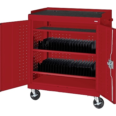 Sandusky Mobile Tablet Cart, Red