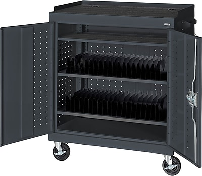 Sandusky Mobile Tablet Cart, Charcoal