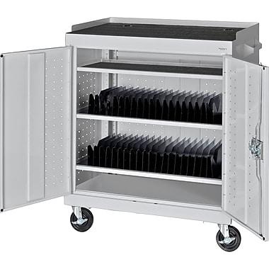 Sandusky Mobile Tablet Cart, Dove Gray