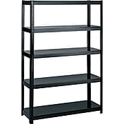 """Safco® 5-Shelf Steel Boltless Shelving, 48""""W, Black (5244BL)"""