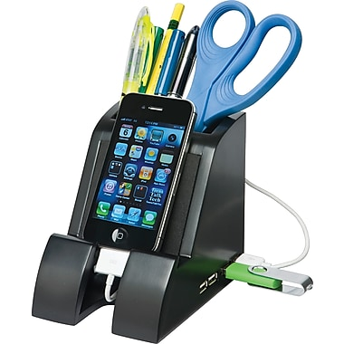 Victor® Smart Charge Pencil Cup™ with USB Hub