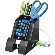 Victor Technology Smart Charge Pencil Cup™, With 4-Port USB Hub