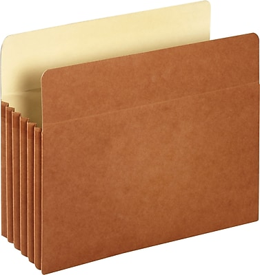 Staples® Straight-Cut File Pocket with Mylar® Reinforced Gussets, 5 1/4